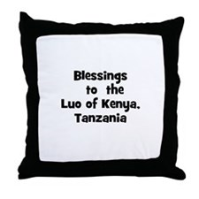 Blessings  to  the  Luo of Ke Throw Pillow