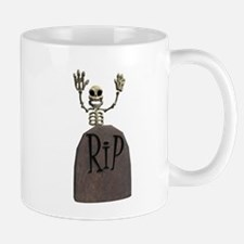 Tombstone & Skeleton Design Mug