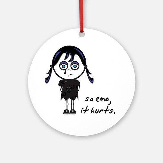 So Emo, It Hurts (Emo Girl) Ornament (Round)