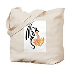 Dragon tears black Tote Bag