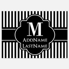 Stripes Pattern with Monogram - Bla Invitations