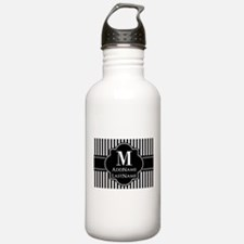 Stripes Pattern with M Water Bottle