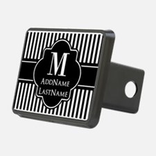 Stripes Pattern with Monog Hitch Cover