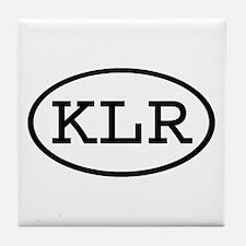 KLR Oval Tile Coaster