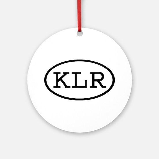 KLR Oval Ornament (Round)