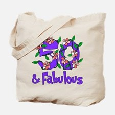 50 and Fabulous Tote Bag