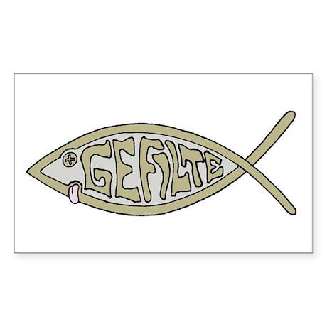 Gefilte fish Rectangle Sticker