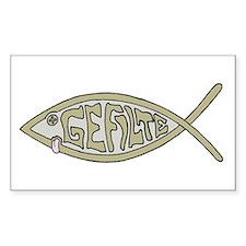 Gefilte fish Rectangle Decal