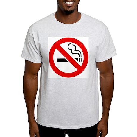 International No Smoking Sign Ash Grey T-Shirt