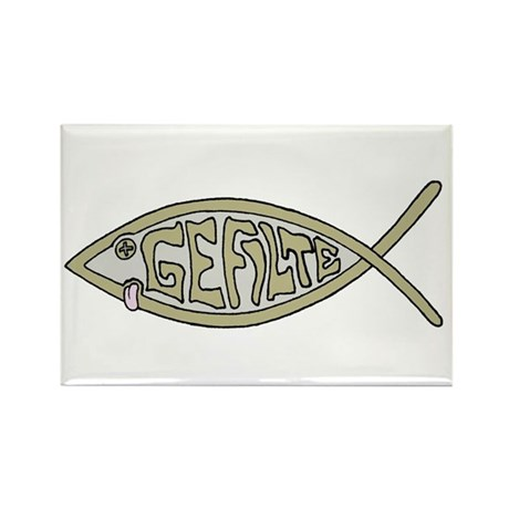 Gefilte fish Rectangle Magnet (10 pack)