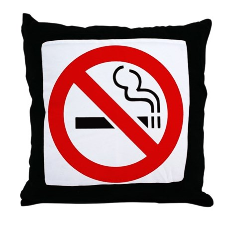 International No Smoking Sign Throw Pillow