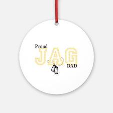 proud jag dad Ornament (Round)