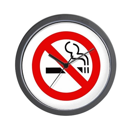International No Smoking Sign Wall Clock
