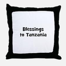 Blessings to Tanzania Throw Pillow