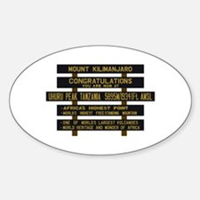 Mount Kilimanjaro, Uhuru Peak, Tanz Sticker (Oval)