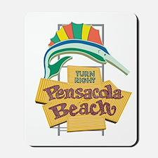 Pensacola Beach Sign, Florida Mousepad