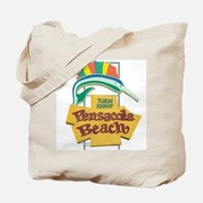 Pensacola Beach Sign, Florida Tote Bag