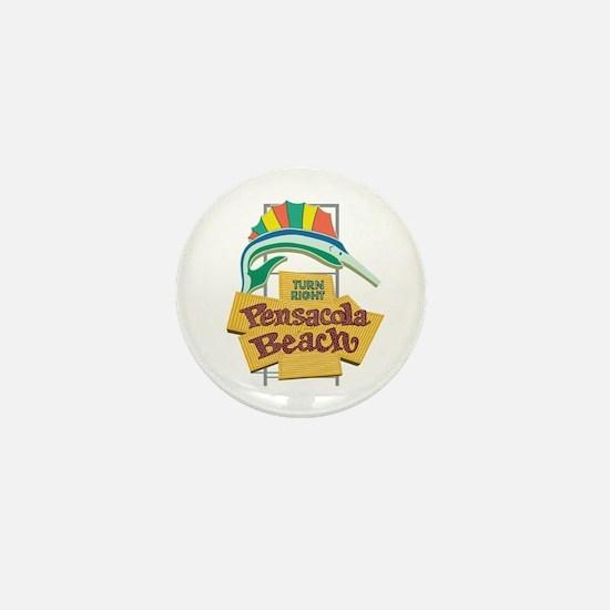 Pensacola Beach Sign, Florida Mini Button