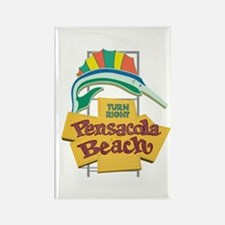 Pensacola Beach Sign, Florida Rectangle Magnet