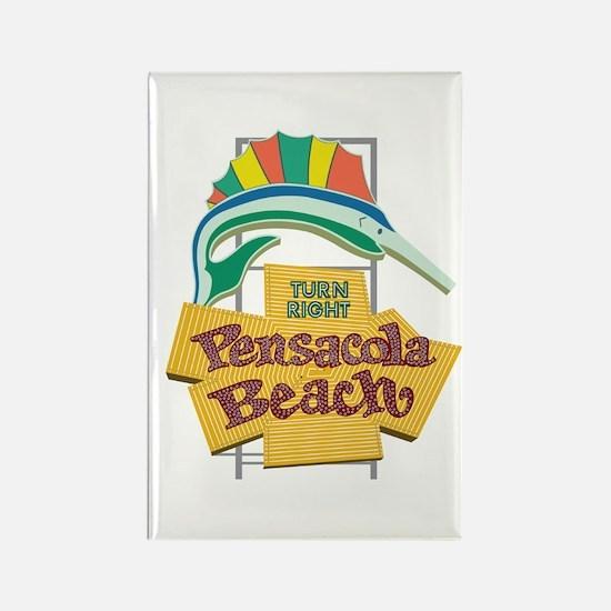 Pensacola Beach Sign, Florida Rectangle Magnet