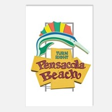 Pensacola Beach Sign, Flo Postcards (Package of 8)
