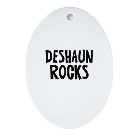 Deshaun Rocks Oval Ornament
