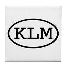 KLM Oval Tile Coaster