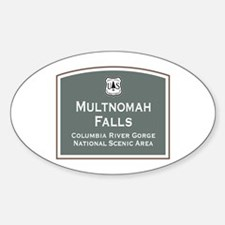 Multnomah Falls, Oregon Sticker (Oval)