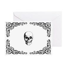 Elegant Skull Greeting Card