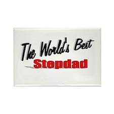 """The World's Best Stepdad"" Rectangle Magnet"