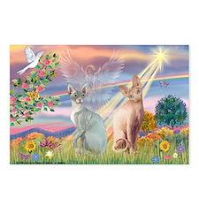 Cloud Angel / Sphynx cat Postcards (Package of 8)
