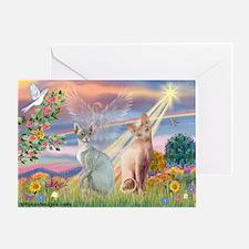 Cloud Angel / Sphynx cat Greeting Card