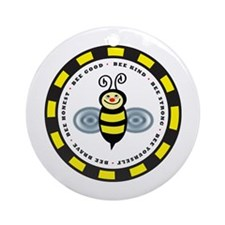 The Bee Line Ornament (Round)