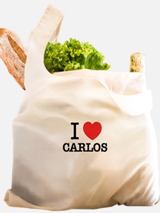 I Love CARLOS Reusable Shopping Bag