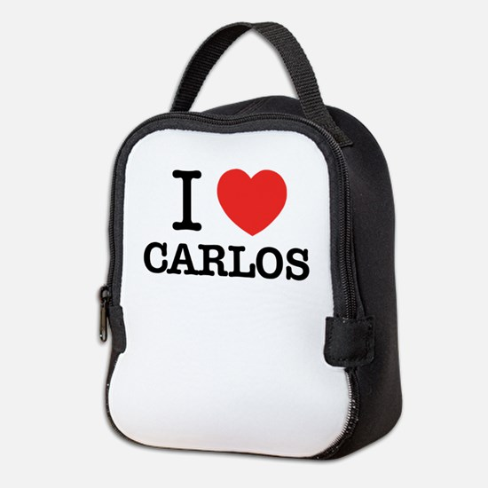 I Love CARLOS Neoprene Lunch Bag