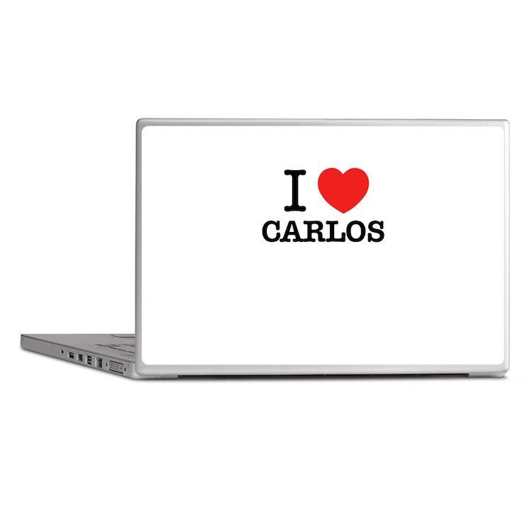I Love CARLOS Laptop Skins