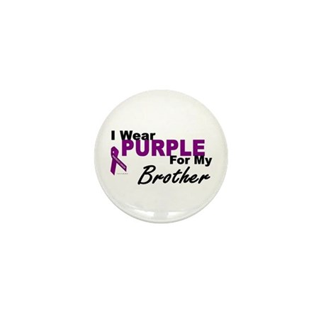I Wear Purple For My Brother 3 (PC) Mini Button (1