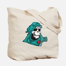 Green Eight Ball Skull Tote Bag