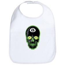 Green Eight Ball Skull Bib
