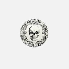 Elegant Skull Mini Button