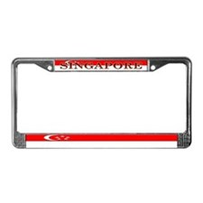 Singapore Blank Flag License Plate Frame