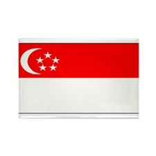 Singapore Blank Flag Rectangle Magnet