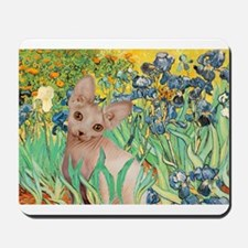 Irises / Sphynx Mousepad