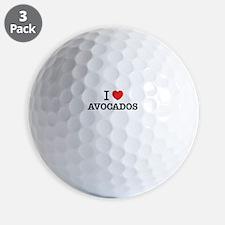 I Love AVOCADOS Golf Ball