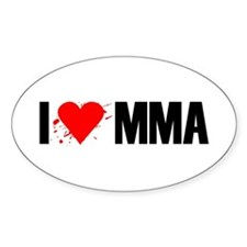 I love MMA Oval Decal