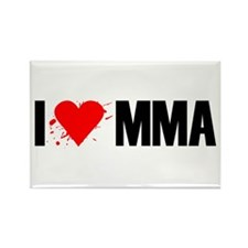 I love MMA Rectangle Magnet