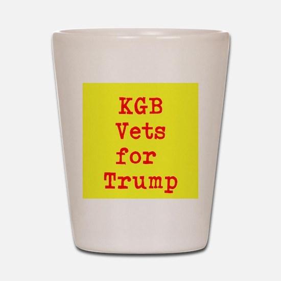 KGB Vets for Trump Shot Glass