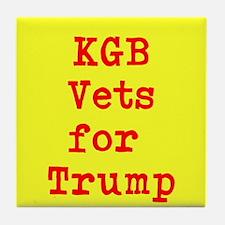 KGB Vets for Trump Tile Coaster