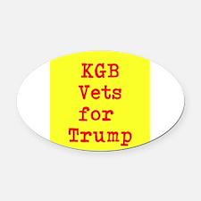 KGB Vets for Trump Oval Car Magnet