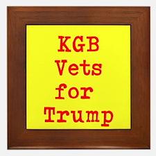 KGB Vets for Trump Framed Tile